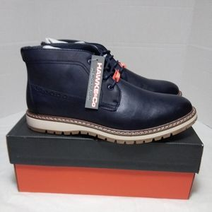 Hawke & Co Fairweather Navy Blue Chukka Boots